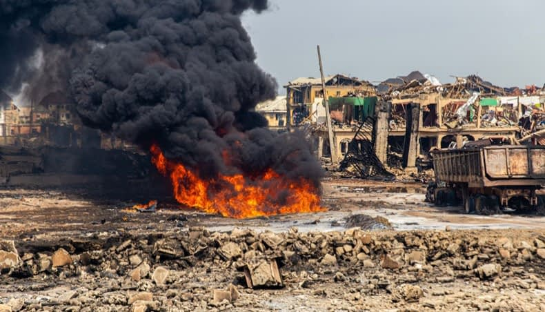 Gas plant explosion in Lagos