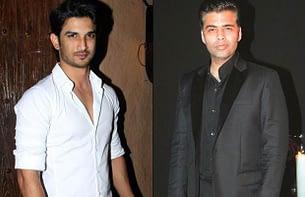Sushant Singh Rajput and Karan Johar
