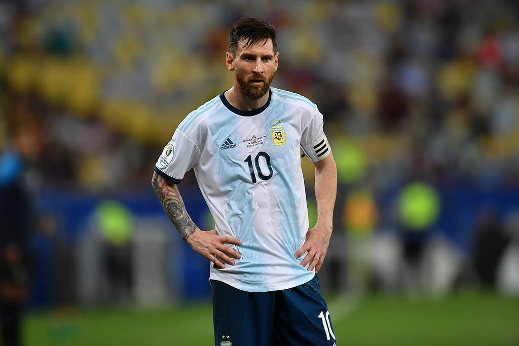 Argentina's Lionel Messi at the 2019 Copa America Tournament