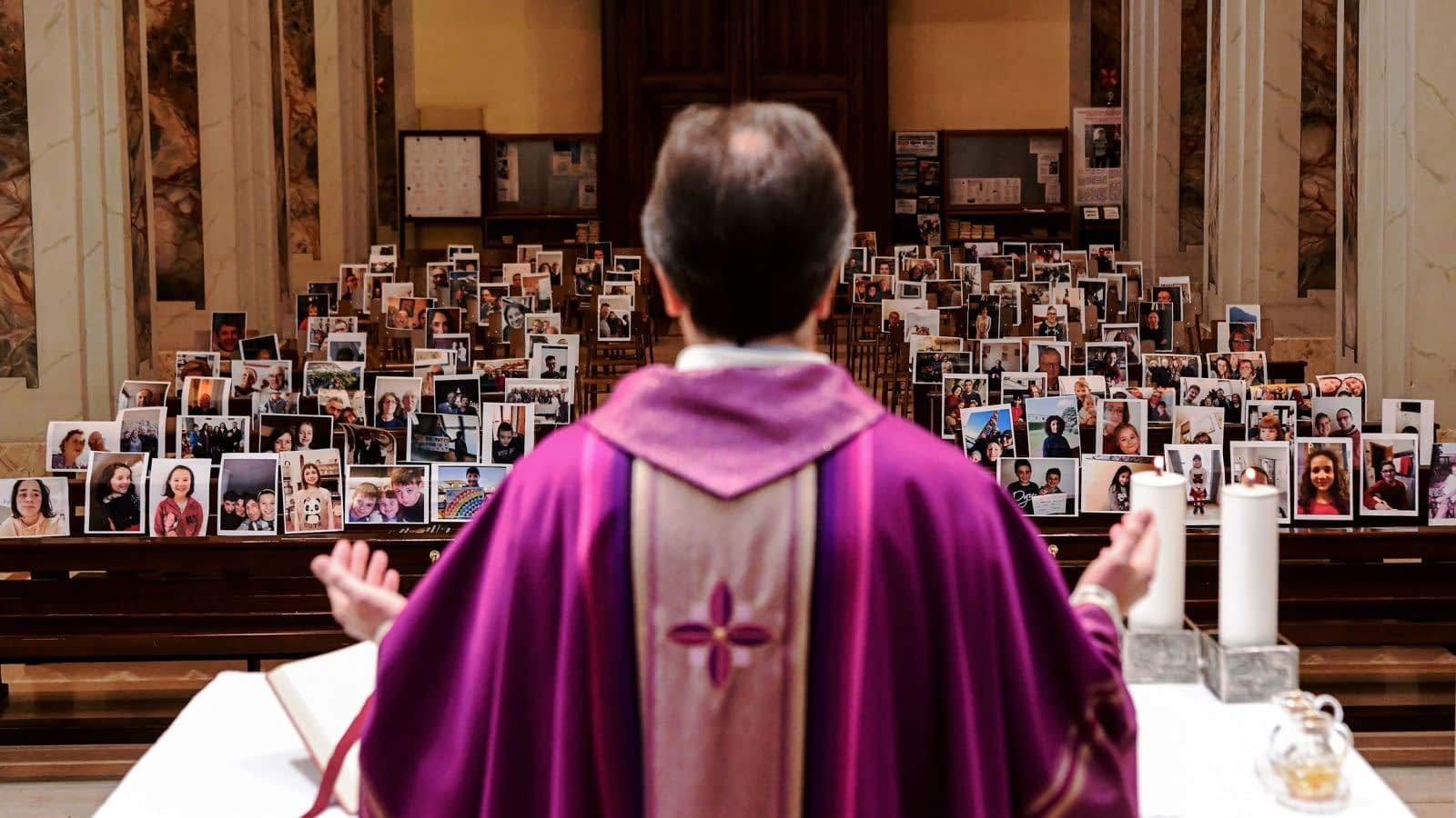 Giuseppe Corbari holds Sunday Mass